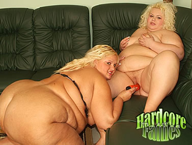 Fat Blondes Having Lesbian Dildo Sex
