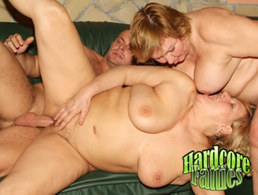 Big Boobed Fatties Having a Threesome