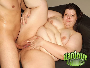 Nasty Fatty Spreads Wide For Cock