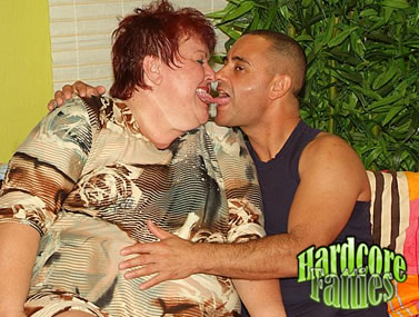 Chubby MILF Teases a Young Stud