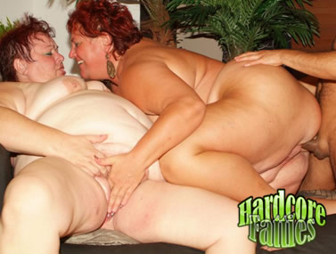 Fatties Agnes and Margaret Threesome