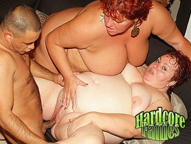 Big Babes Taking Turns On Cock